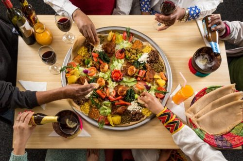 Ethiopian dish for 4 people